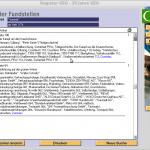 Screenshot der Suchergebnisse des GEO PC-Registers