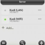 Ansicht der Server-Liste