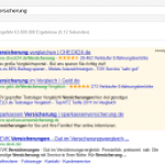 Screenshot der Google-Standardansicht