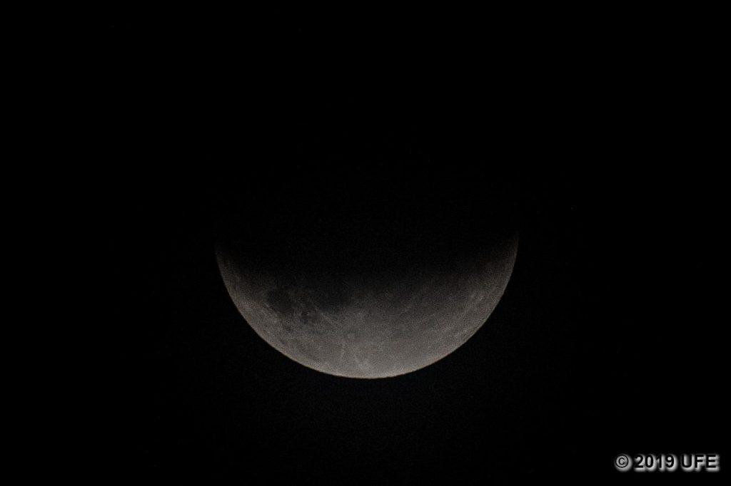 Maximale Bedeckung des Mondes durch den Erdschatten