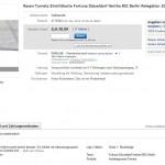 Screenshot einer Auktion, die noch einige Tage laufen soll