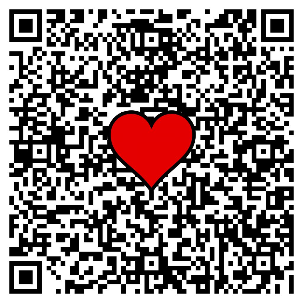 QR-Code mit Herz aus Johannes 14, 6