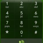 Ansicht Telefonoberfläche mit Schaltflächen