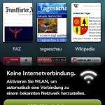 Browserfenster mit WLAN-Aufforderung