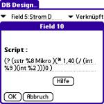 In der Ladezeiten-Tabelle werden Verknüpfungen auf die anderen Tabellen erstellt. Zudem werden Felder mit den Berechnungsformeln erstellt. Wer bereits Script-Fu für GIMP ausprobiert hat, dürfte mit der abgebildeten Formel schnell zurechtkommen