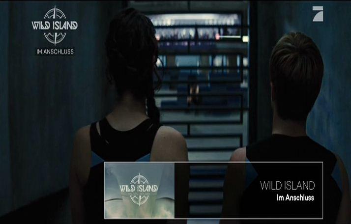 Filmbild mit Werbung