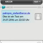 SMS auf einem HP Veer