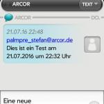 SMS im HP Veer mit Patch