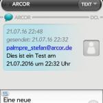 SMS mit zusätzlichem Zeitstempel