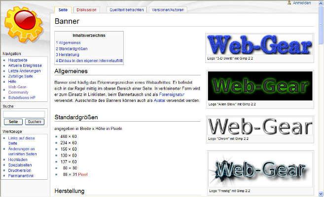 16.12.2007 - Mit den neuen technischen Voraussetzungen war es jetzt möglich, ein Wiki aufzusetzen. Thema war wie bei html.ag.vu eine Sammlung von Tipps und Tricks für die Benutzung von Web-Gear. Nach anfänglicher großer Beteiligung hat sich die Anzahl der Verfasser inzwischen auf einen reduziert - mich. Leider kann die KnowledgeBase nicht als 'Ein Mann Betrieb' ständig aktuell gehalten werden. Die geringe Beteiligung 2008 hat bereits jetzt einen deutlichen Rückstand in der Aktualität erzeugt. - Schade eigentlich...