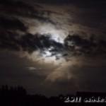 Ein hartnäckiges Wolkenband versperrt die Sicht bis zuletzt